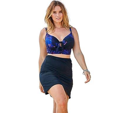 73e295c159018 Amazon.com: Woman Within Plus Size Wrap Swim Tankini Top in Bra Sizes:  Clothing