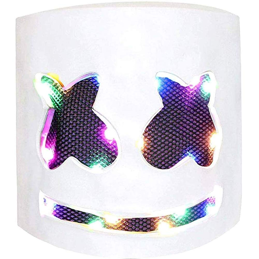 DJ Mask LED, Music Festival Helmets, Cosplay Costume Full Head Masks Halloween Party Props Costume Masks White by EIRMEON