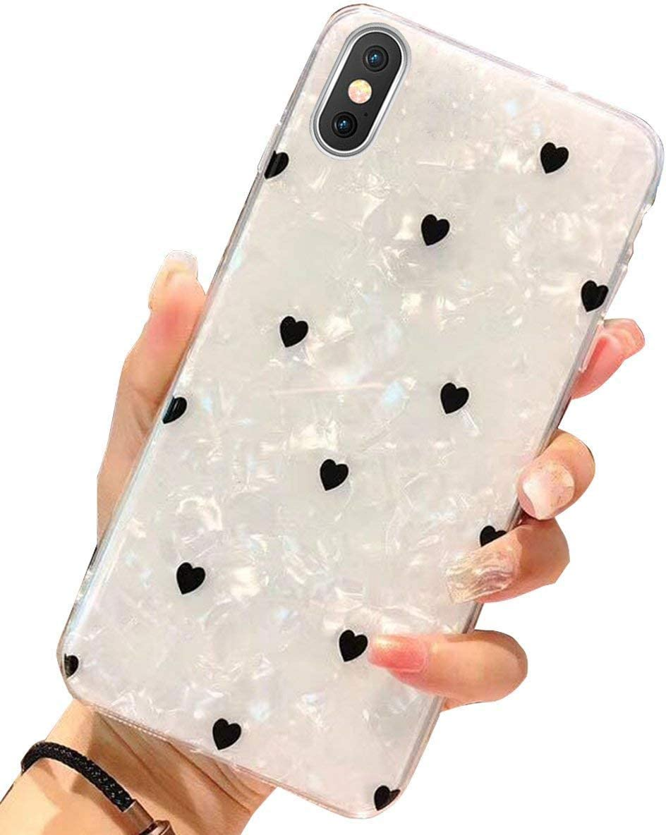 iPhone X Case,iPhone 10 Case, J.west iPhone X TPU Case Luxury Sparkle Bling Crystal Clear Soft TPU Silicone Back Cover for Girls Women for Apple 5.8