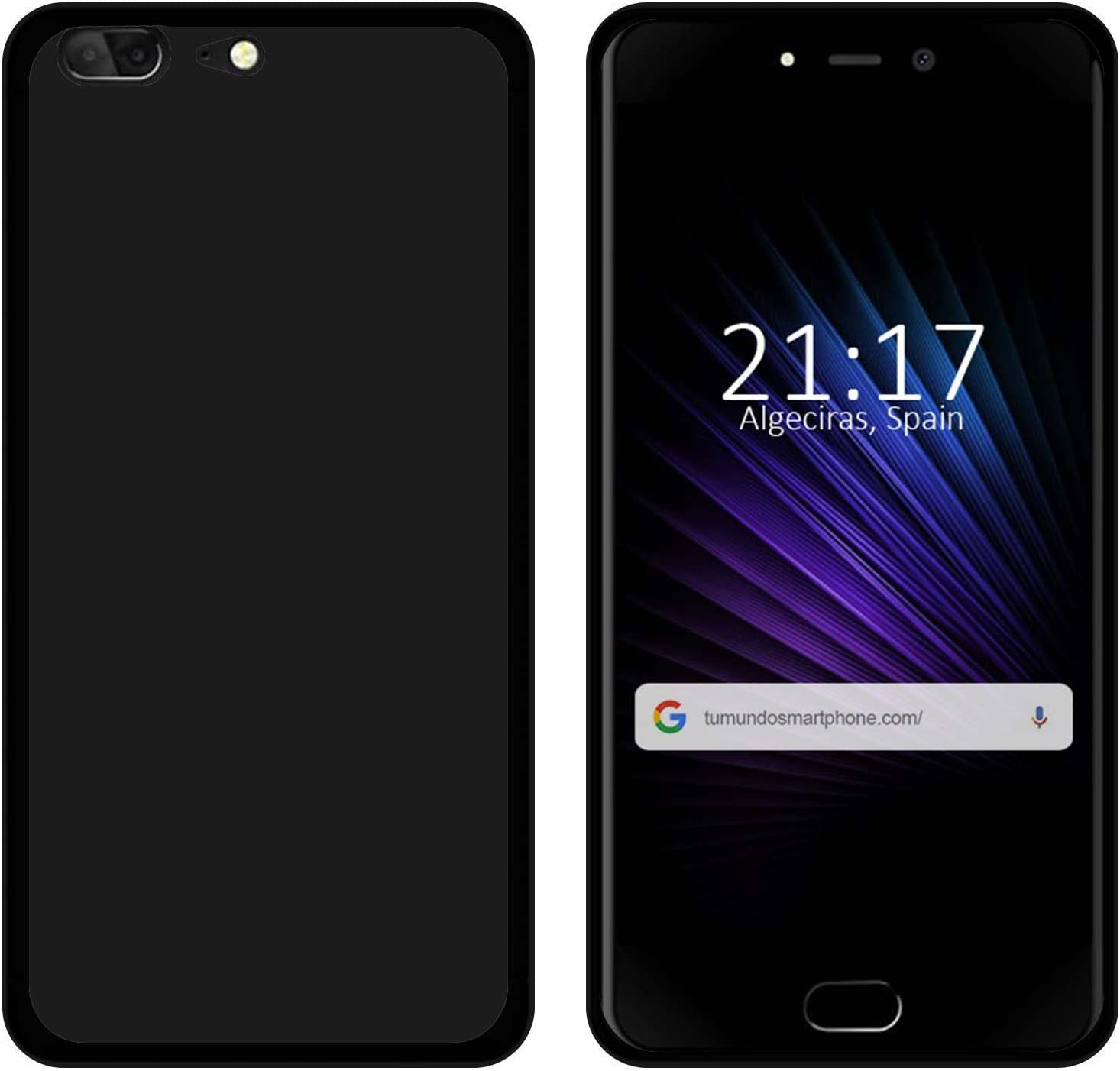 Tumundosmartphone Funda Gel TPU para LEAGOO T5 Color Negra: Amazon ...