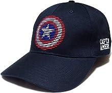 MARVEL マーベル キャップ 帽子 キャプテンアメリカ 星 刺繍 ベースボール ストリート ダンス [並行輸入品]