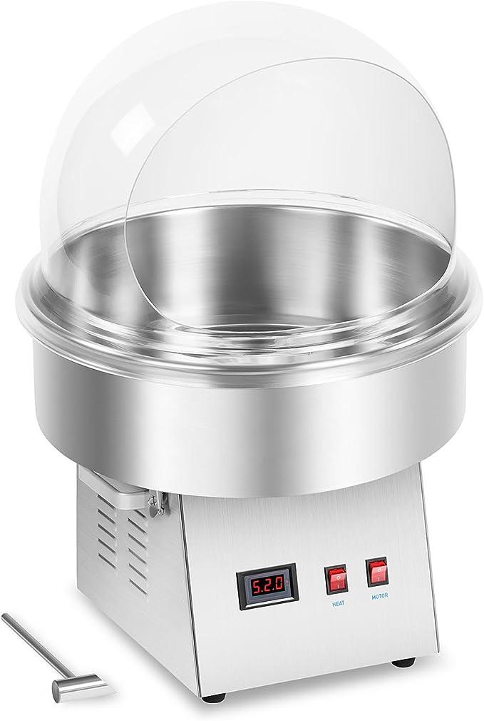 Zuckerwattemaschine Set Spuckschutz 52 cm Zuckerwattegerät 1200 W Türkis
