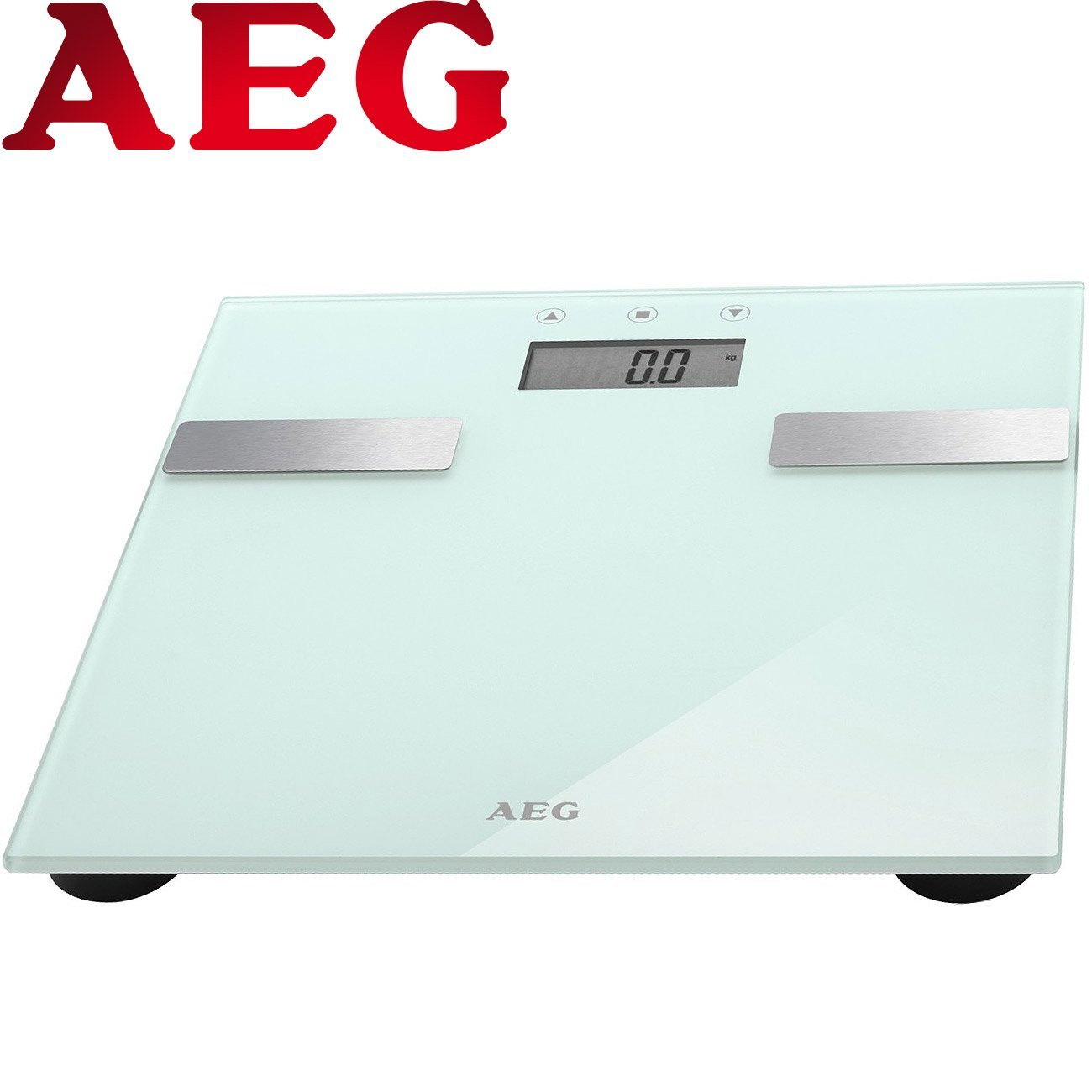 AEG PW 5644 Design 7 in1 Bilancia Pesapersone Bilancia Peso corporeo bilancia da bagno da Bilancia Bilancia digitale del grasso corporeo bilancia fino a 180 kg di analisi Bilancia in vetro