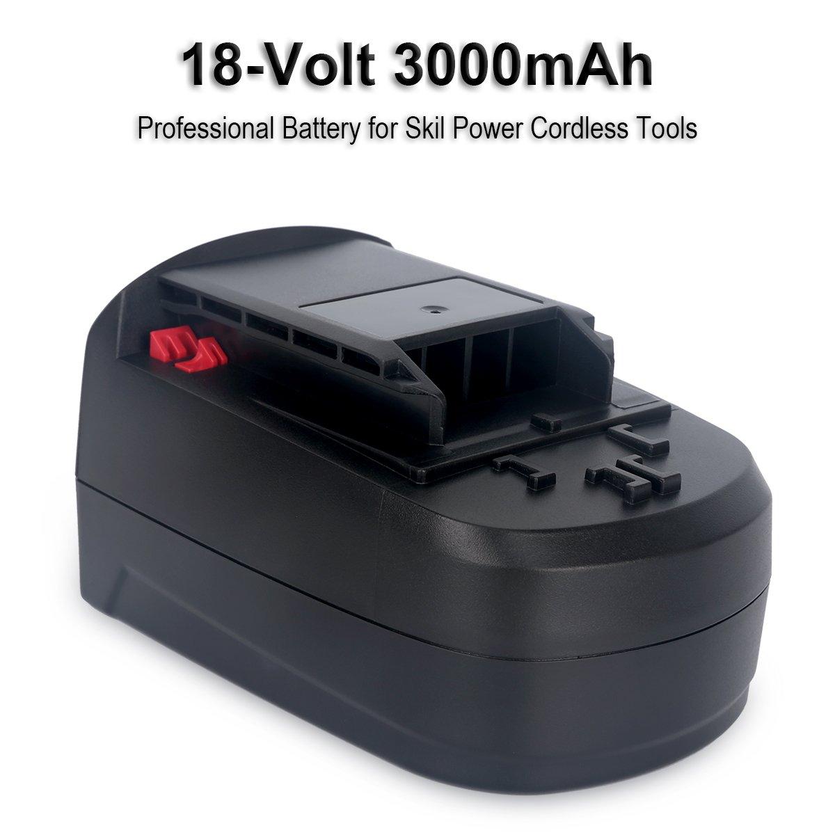 Biswaye 2Pack 18V Battery SB18C SB18A SB18B for Skil 18V Select System Cordless Tools 2810 2888 2895 2897 2898 4570 5850 5995 7305 9350, 3000mAh Ni-Cd by Biswaye (Image #2)
