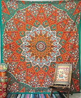 1 X Queen Indian Star Mandala Psychedelic Tapestry Hippie Bohemian Wall Hanging Tapestries Bedspread