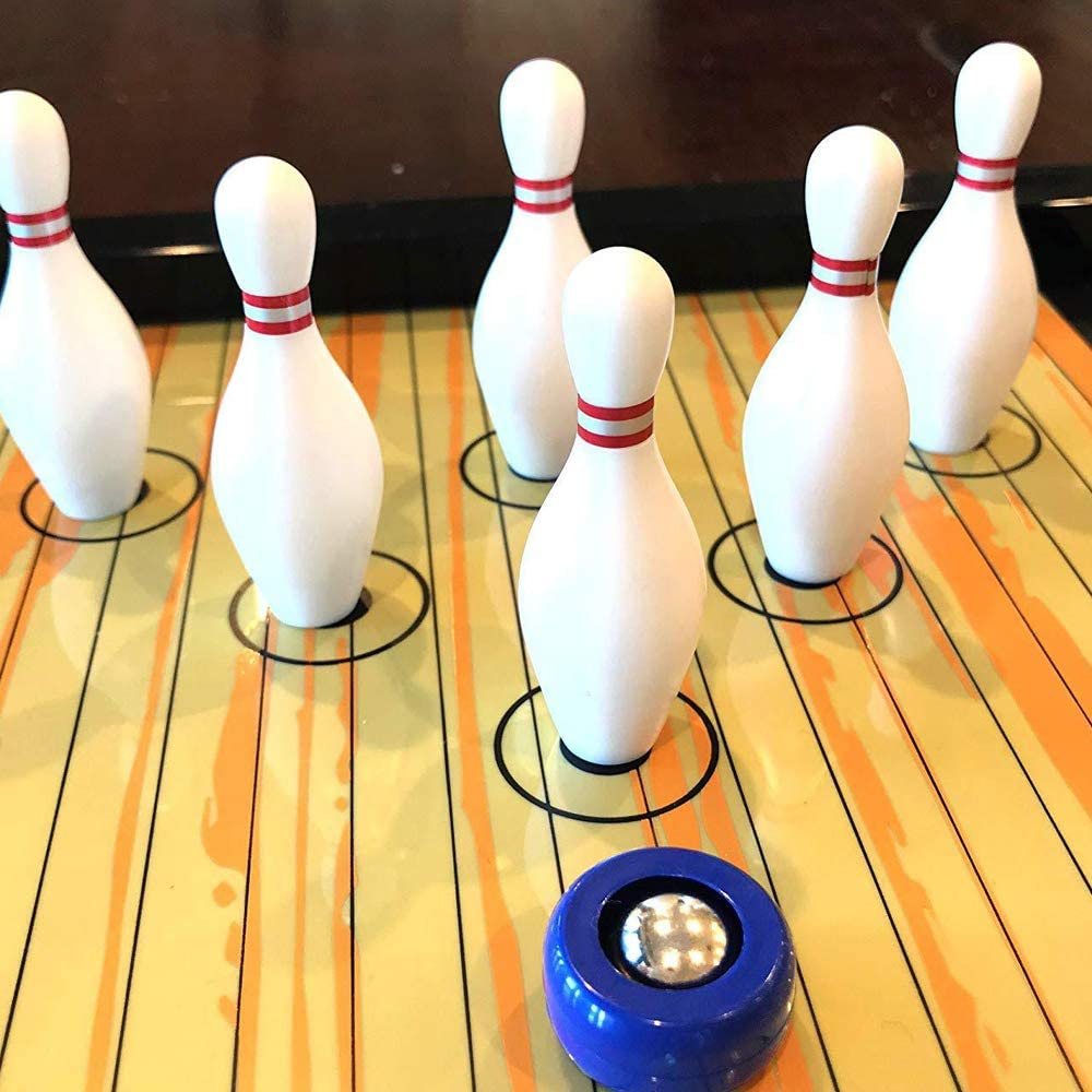 Juego de mesa de rizo, Juego de mesa de bolos Juego de juguetes de entrenamiento Kit de pelota de entrenamiento, Entrenamiento de mesa Juegos de fiesta de la familia para niños Adultos de viaje