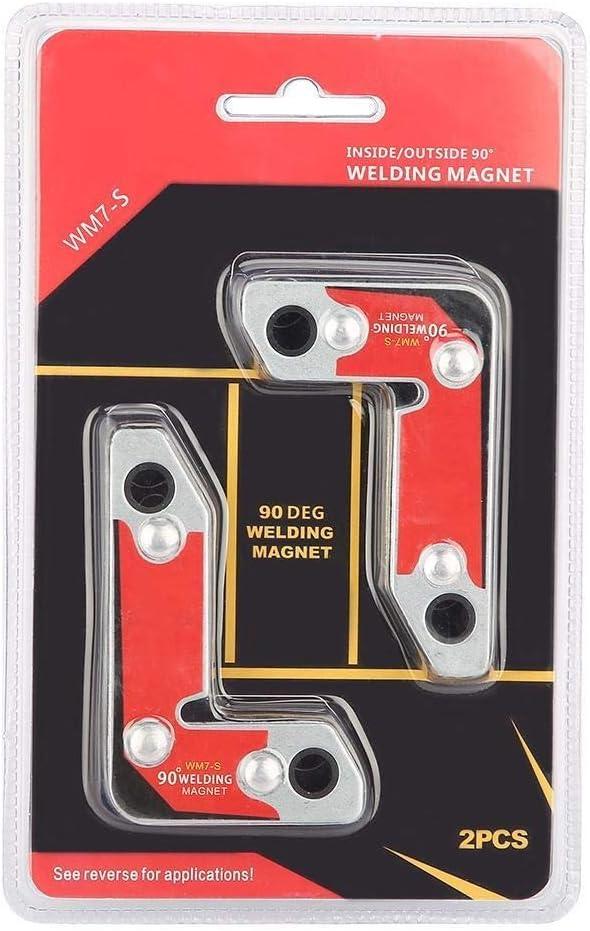Welding Magnet BiuZi 2Pcs WM7-S Strong Magnet NdFeB Welding Fixture Inside//Outside Right Angle Magnetic Welding Holder 30/°//60/°//90/°
