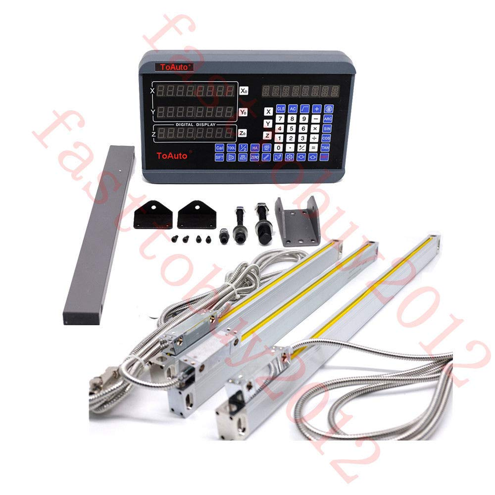 3 Axis Linear Scale Glass DRO Digital Readout Display milling lathe 250/&550/&800