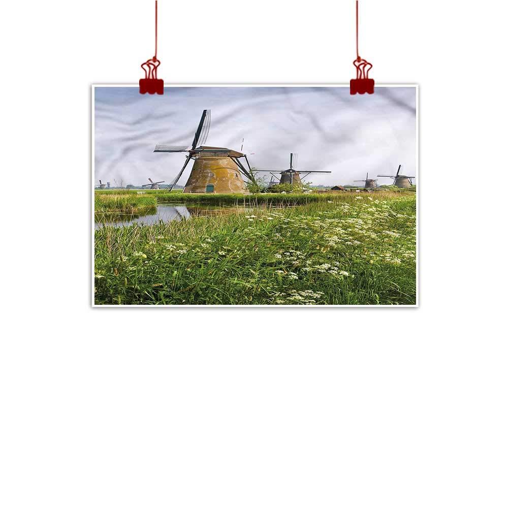 color13 36 x32  (90cm x 80cm) Anzhutwelve Canvas Wall Art White,Ocean Sea Shoreline Design on Canvas Wall Decoration Wrapped