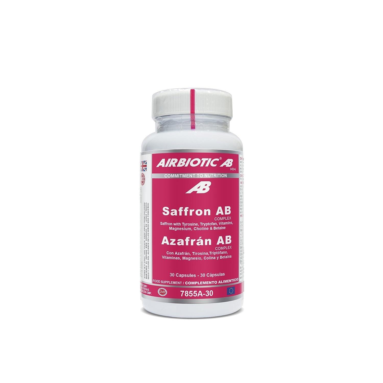 Airbiotic AB - Azafrán AB Complex, Hierbas, Suplementos para Ansiedad y Estado de Ánimo, 30 Cápsulas: Amazon.es: Salud y cuidado personal