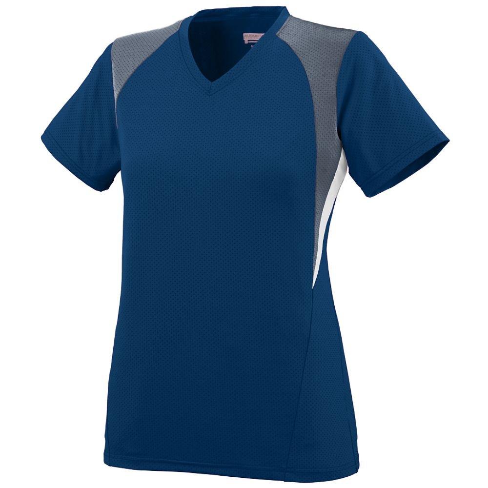 Augusta SportswearレディースMysticジャージー B00JPQ6KDG L|navy graphite white navy graphite white L