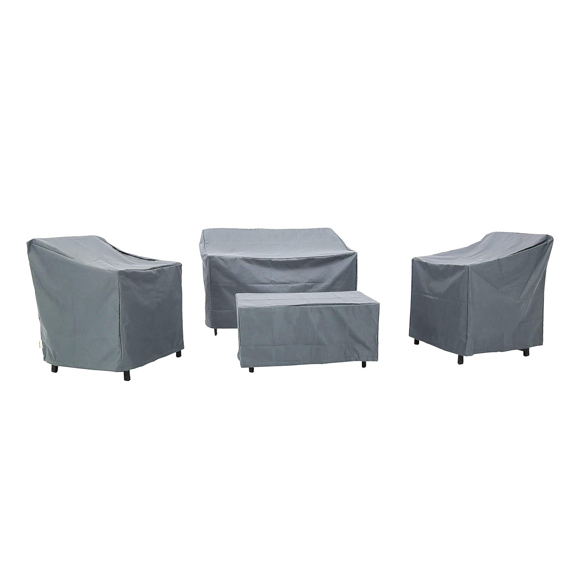 Baner Garden N82 4-Piece Outdoor Veranda Patio Garden Furniture Cover Set with Durable and Water Resistant Fabric