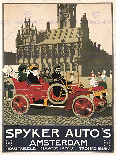 advert-automobile-car-spyker-amsterdam-netherlands-vintage-poster-print-12x16-inch-30x40cm-784py