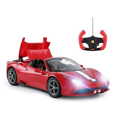 RASTAR RC Car | Radio Remote Control Car 1/14 Scale Ferrari 458 Special A, Model Toy Car for Kids, Auto Open & Close, Red: Toys & Games