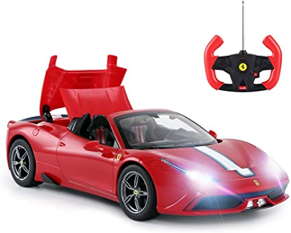 Rastar Ferrari Ferngesteuertes Auto 1 14 Ferrari 458 Special A Rotes Spielzeugauto Cabrio Automatisches öffnen Schließen Amazon De Spielzeug