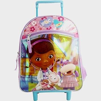Amazon.com  Doc McStuffins Toddler Backpack Travel Bag on Wheels ... c360de38163af