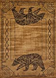United Weavers of America Affinity Bear Cave 5'3″ x 7'2″ Rug, Gold