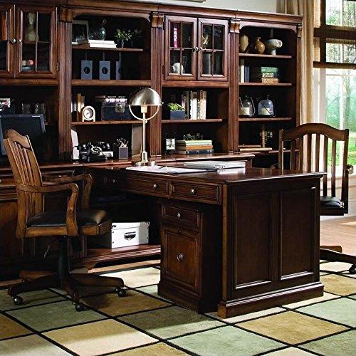 Hooker Furniture Brookhaven Peninsula Desk in Cherry Finish