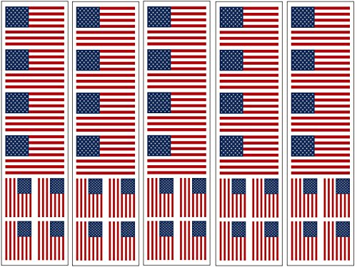 40 Removable Stickers: United States Of America Flag, American Patriotic Party Favors, Decals