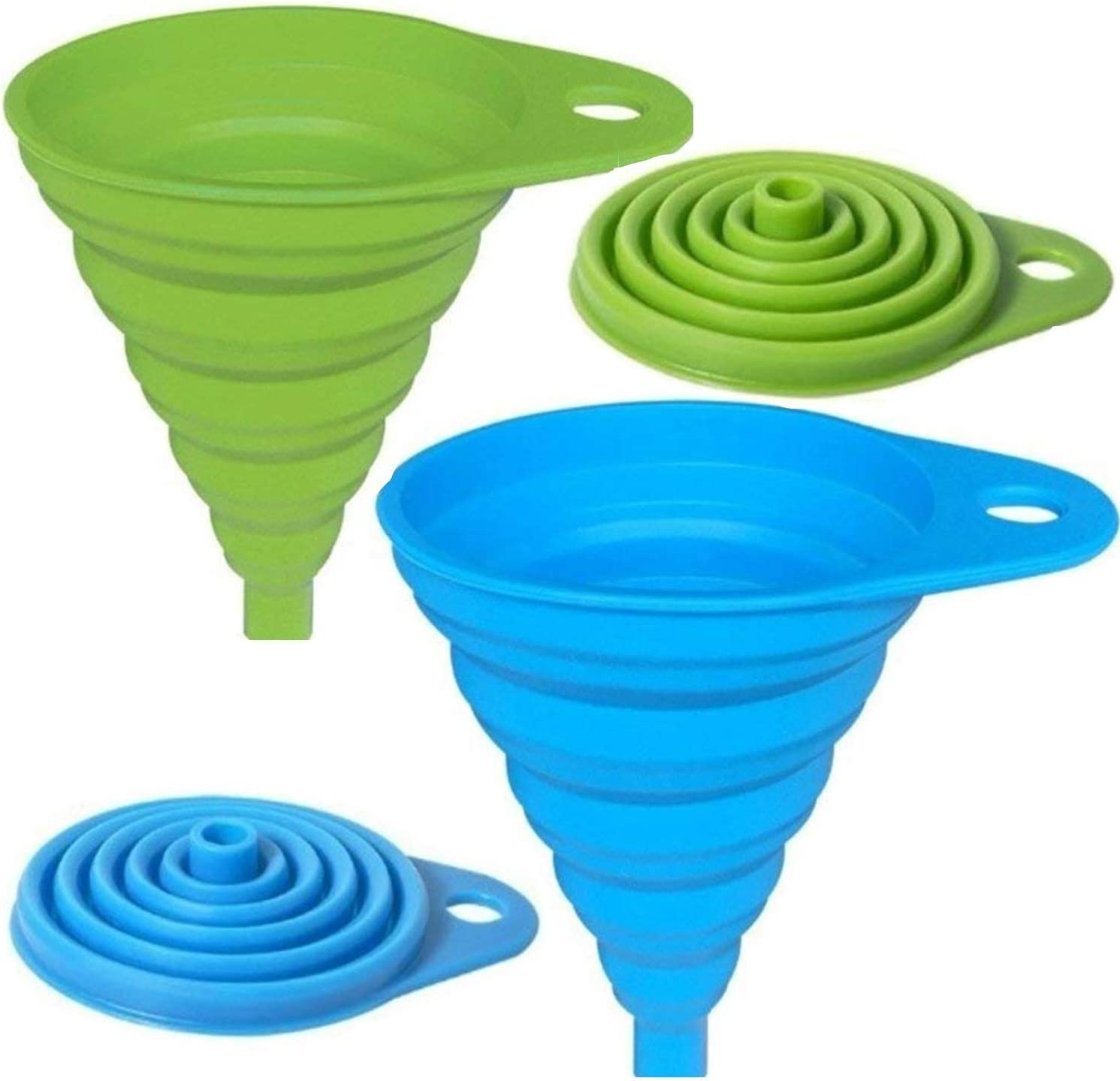 silicone gel collapsible practical foldable funnel hopper kitchen tools PLEFLA
