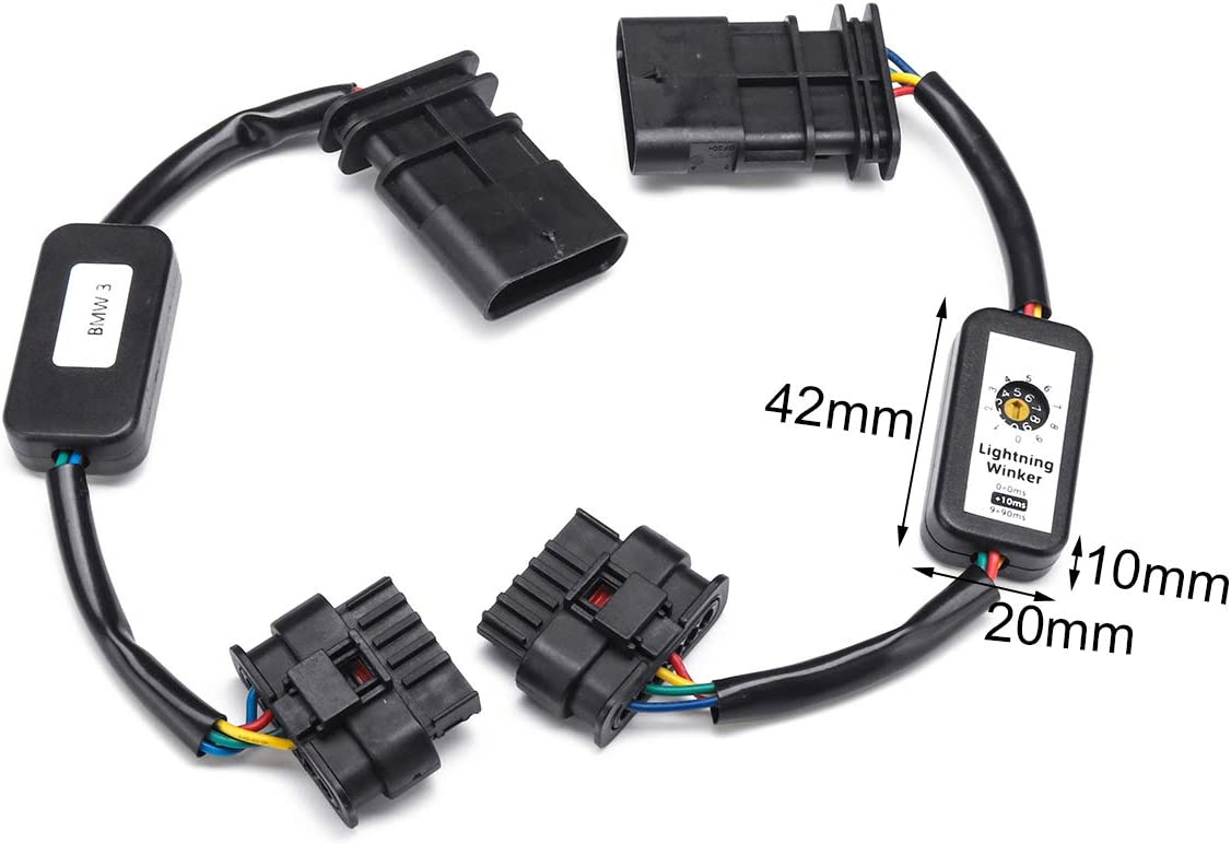 TOOGOO Dynamic Turn Signal Indicator Led Taillight Add-On Module Cable Wire Harness for F30 3Series F80 M3 Lci