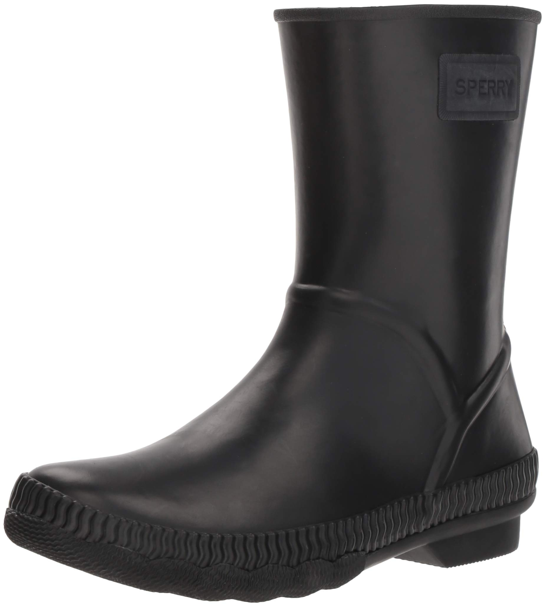 SPERRY Women's Saltwater Current Rain Boot, Black, 8.5 by SPERRY