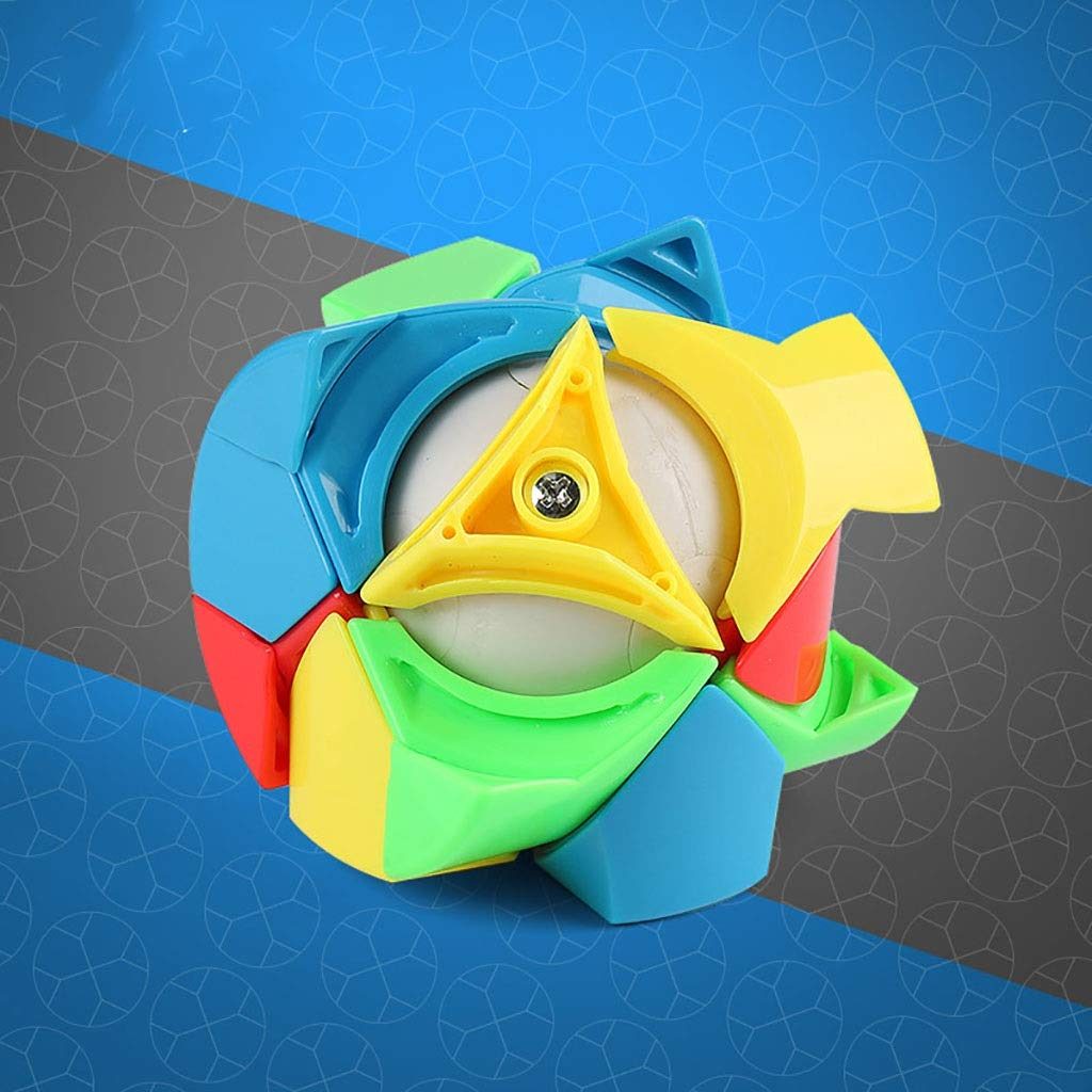 Zxq Cylindrical 3rd-Order Shaped Cube ABS Infinite Party One-Hand Decompression Artifact Creative Deformation Pocket Toy (Color : A)