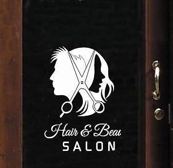 Barbershop Salon Window Glass Door Sticker Glass Decal Wall Stickers White