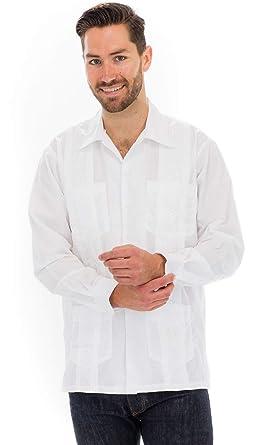 f554ccc3fa Squish Cuban Style Long Sleeve Guayabera Shirt