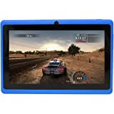 Yuntab 7 inch Google Android Tablet PC Wifi 8GB Q88 Quad Core 1024x600 Resolution Dual Camera Google Play Pre-loaded 3D Game, Blue