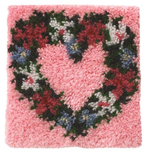 Heart Latch Hook Kit (Wonderart Heart Wreath Latch Hook Kit, 12
