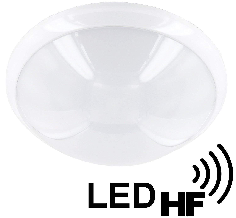 Plafón E27 IP44 con detector de movimiento HF - Diámetro 300 mm - Para entornos húmedos - Lámpara - Lámpara de baño: Amazon.es: Iluminación