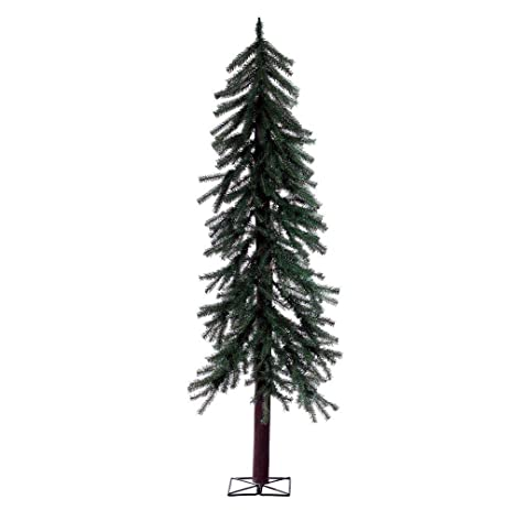 narrow artificial christmas trees rustic artificial christmas trees this fake xmas alpinestyle pine tree easy assembly amazoncom