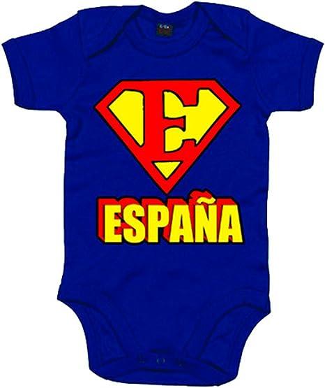 Body bebé España Superman logo - Azul Royal, 6-12 meses: Amazon.es: Bebé