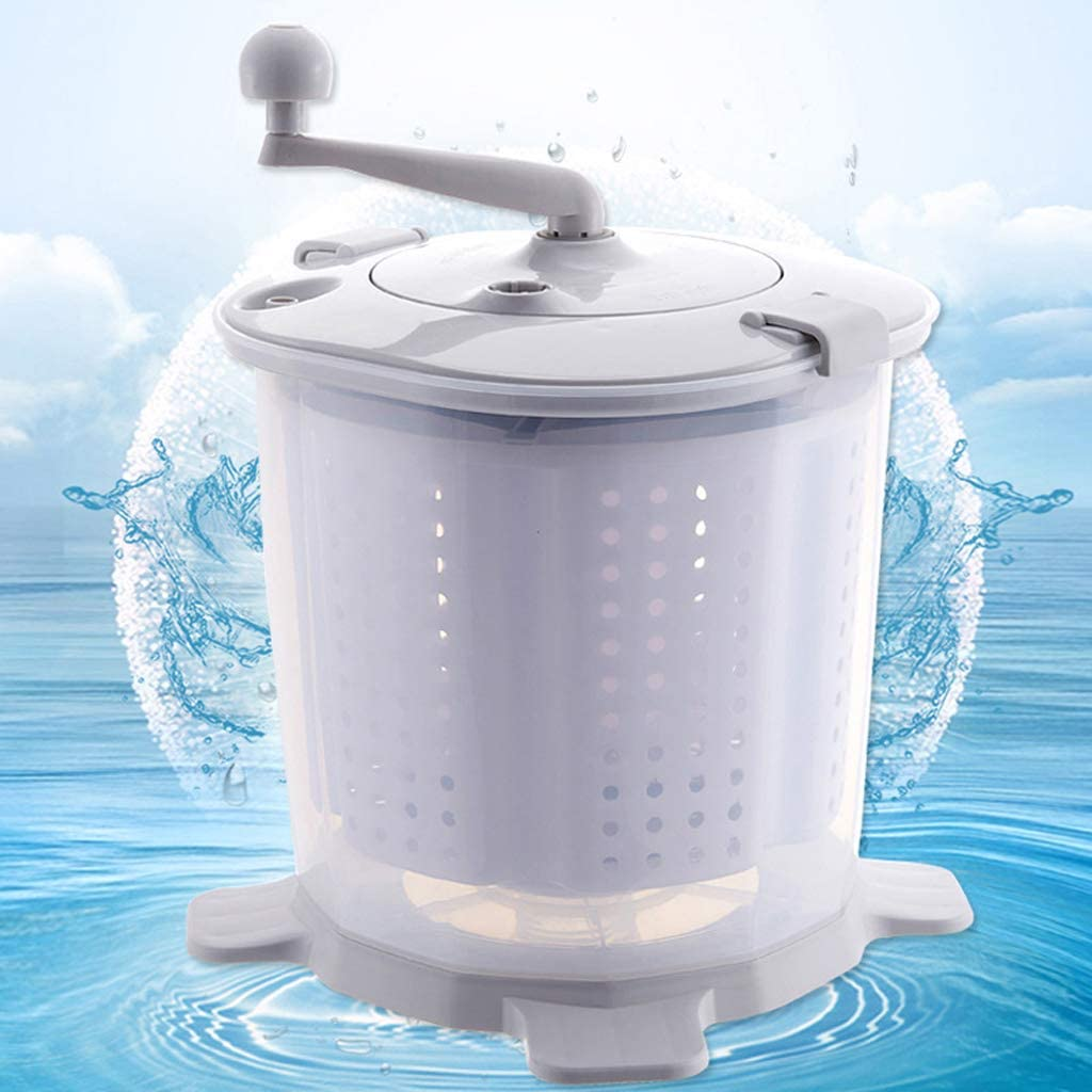 CFByxr Portable Manual Washing Machine,Compact Non-Electric Washing Machine and Spin Dryer Environmentally for Dormitory Apartment Camping Laundry Alternative