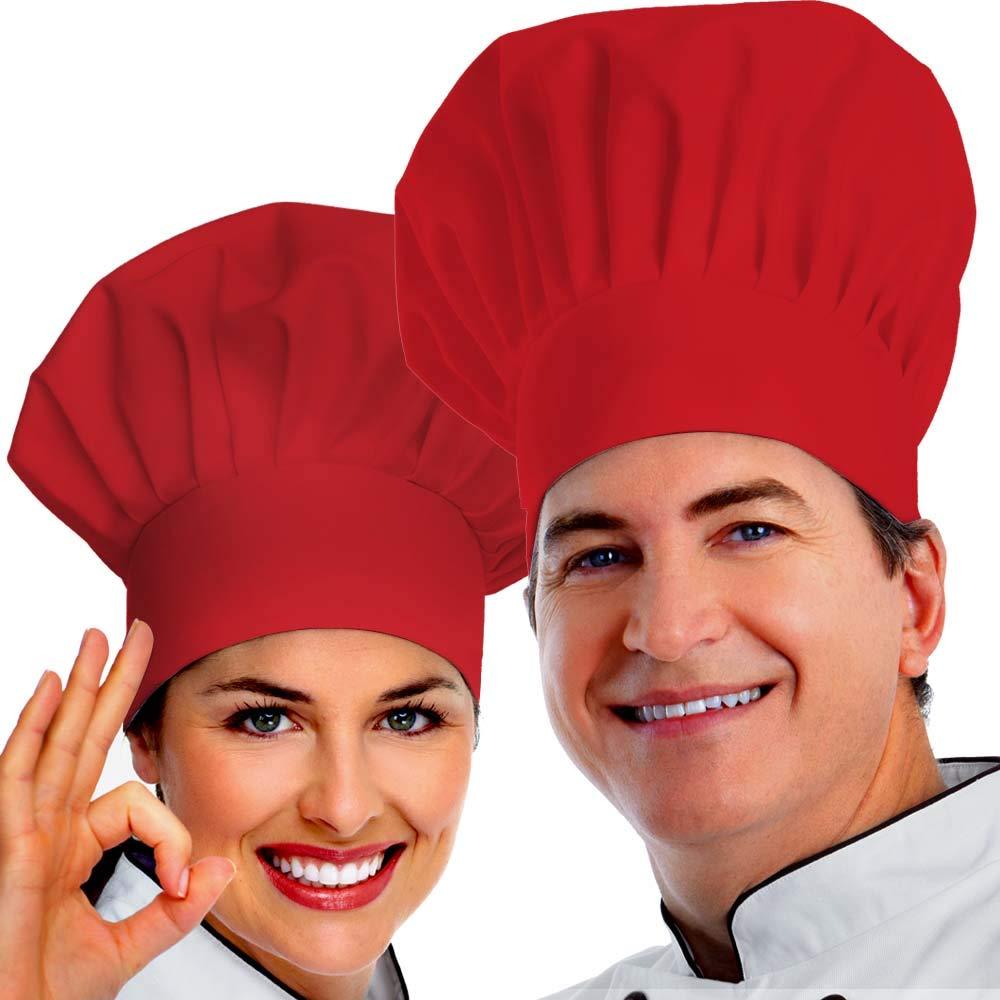 6 Pieces Chef Hat Adult Adjustable Baker Cooking Cap Unisex Baker Kitchen Hats