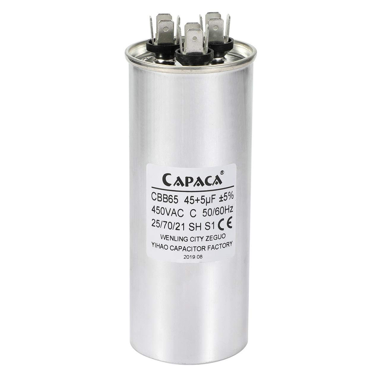 BlueCatELE 40 5 MFD uF CBB65 Capacitor Air Conditioner Capacitor Round Dural Motor Run Capacitor Withstand 450V AC