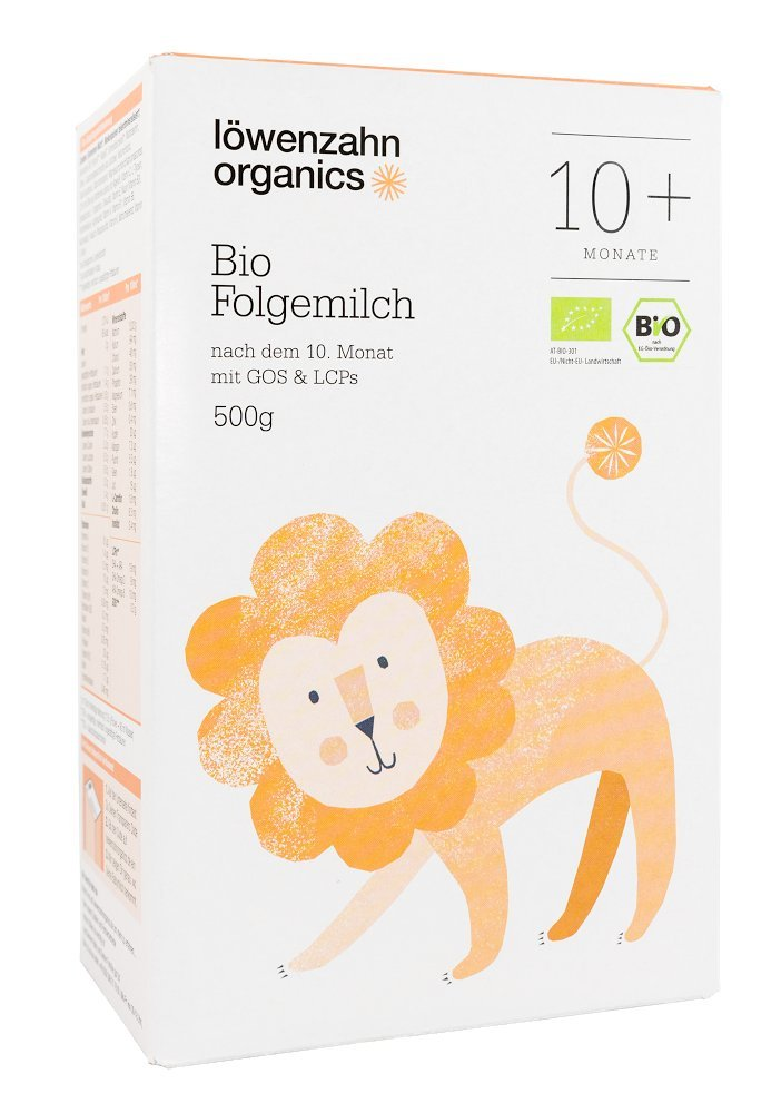5er Pack Löwenzahn Organics Folgemilch 10+ Monate