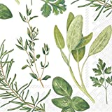 Celebrate the Home Watercolor 3-Ply Paper Cocktail Napkins, Herbs, 20 Count