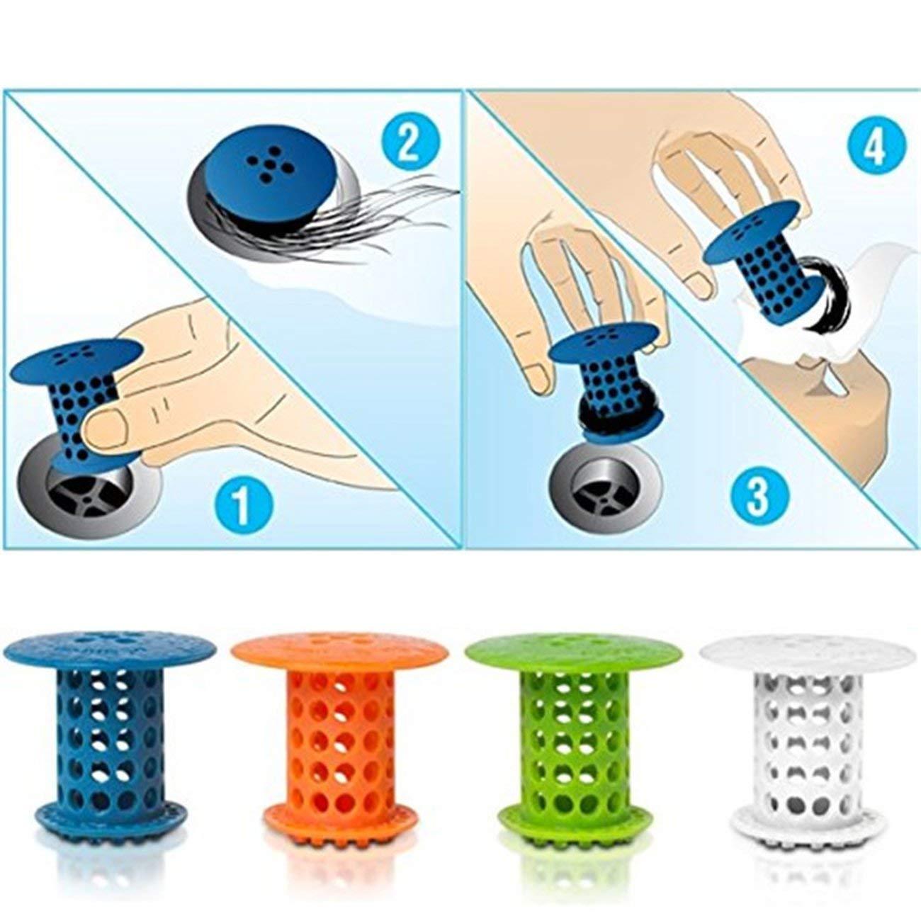 Elviray Silicone Home Kitchen Sink Strainer Tappo di Scarico Plug Utile Bagno Bacino Lavello Filtro di Scarico Leggero Pratico