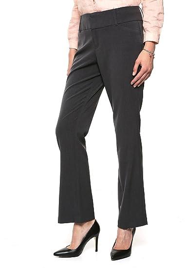 West Avenue Pantalón Gris Oxford De Vestir Pantalones Para Mujer