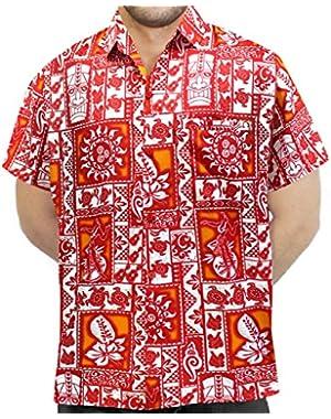 Men's Aloha Hawaiian Shirt Short Sleeve Button Down Casual Beach Party