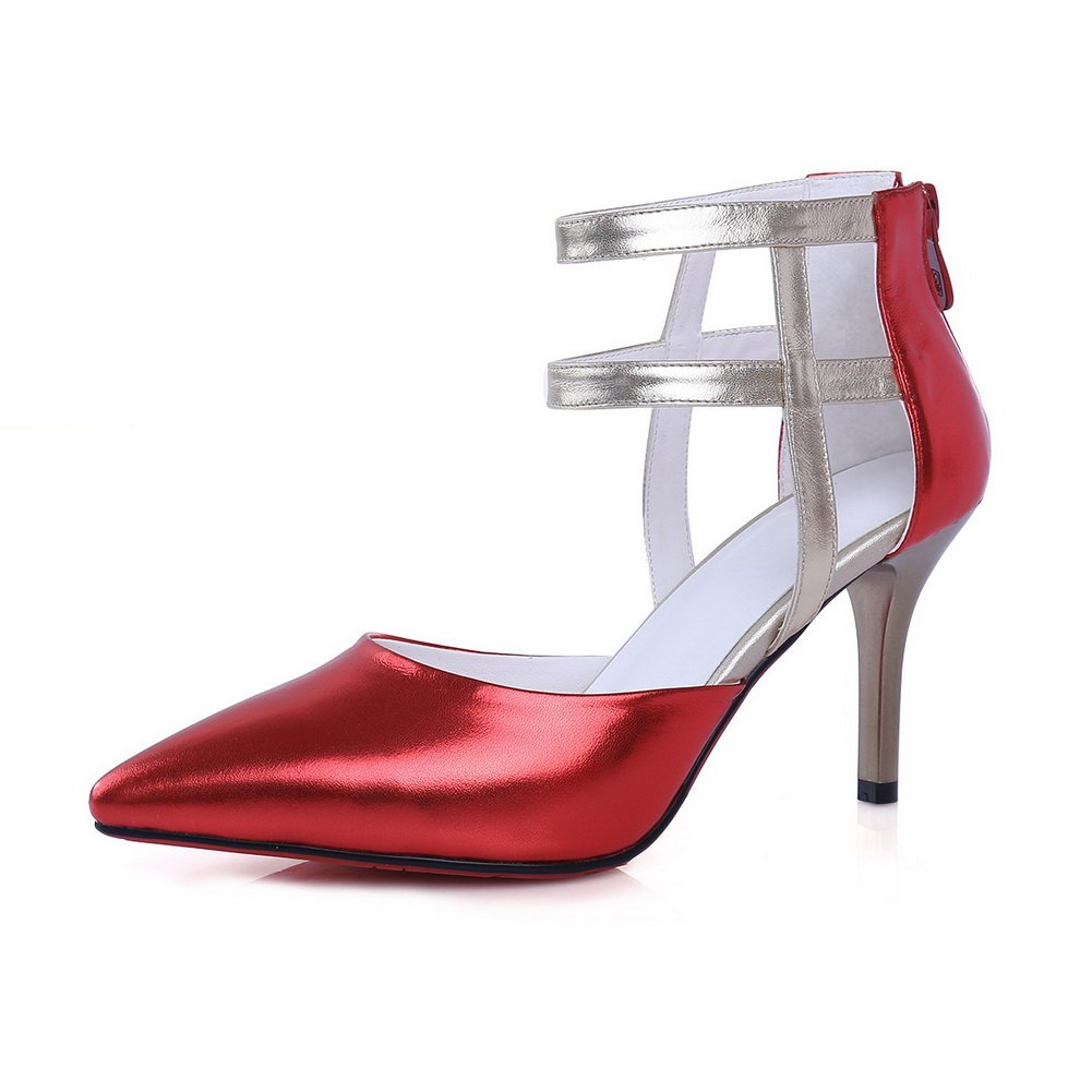 AdeeSu SLC04009 - Sandalias con Cuña Mujer 36 EU|Red
