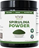 Viva Naturals Spirulina Powder: California-Grown, Non-GMO, Non-Irradiated and Pesticide-Free — The FINEST Green Superfood for Smoothies and Juices , 8 oz.