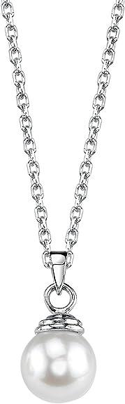 14K Gold Akoya Cultured Pearl /& Diamond Michelle Pendant