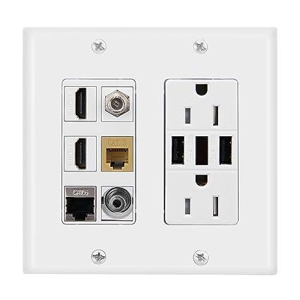 imonta toma de corriente 15 A con doble 2,4 un cargador USB placa de