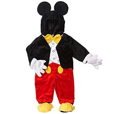 57acf0608e73 Amazon.com: Disney Baby / Toddler Little Boys Mickey Mouse Dress Up Halloween  Costume (3-6 Months): Clothing