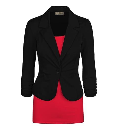 Hybrid Company Womens Casual Work Office Blazer Jacket Made In Usa