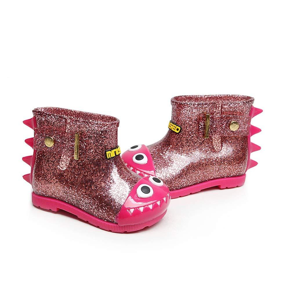 Baby Toddler Girls Boys Winter Rain Shoes 1-7 Years Old ❤️ Kids Warm Waterproof Bling Cartoon Dinosaur Rain Boots