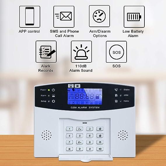 Amazon.com: Home Alarm System Wireless, Burglar Alarm ...